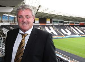 Steve Bruce at The KC  Stadium Kingston-upon-Hull
